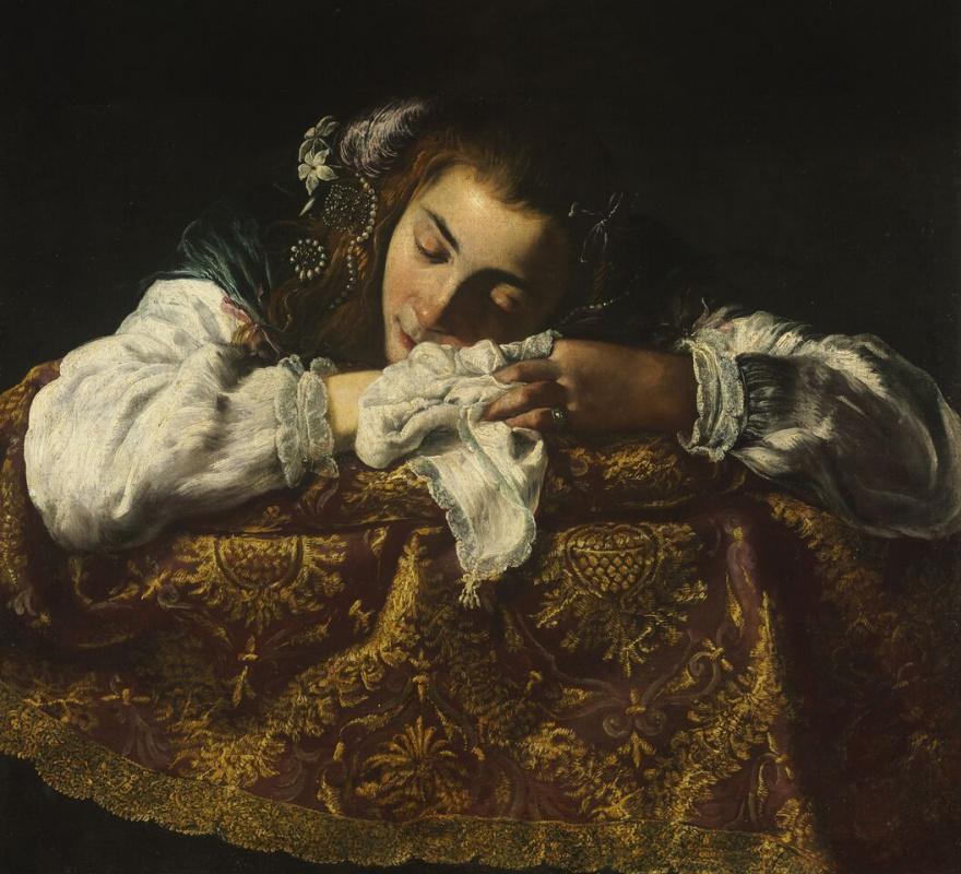 Итальянский  художник. Женский портрет