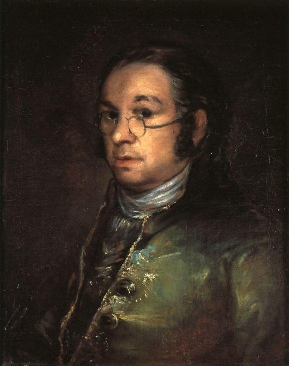 Франсиско Гойя. Автопортрет в очках