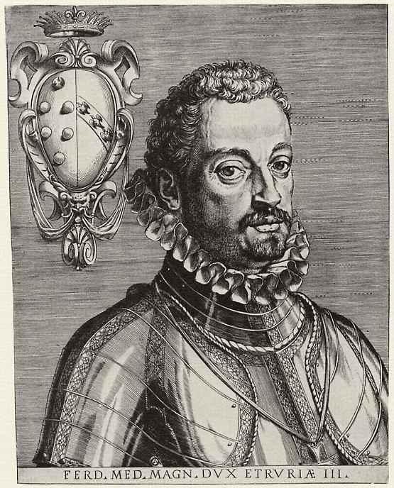 Агостино Карраччи. Портрет Фердинандо Медичи, великого герцога Тосканского