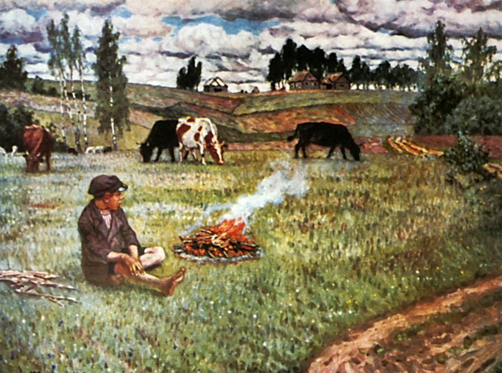 Николай Петрович Богданов-Бельский. Пастушок