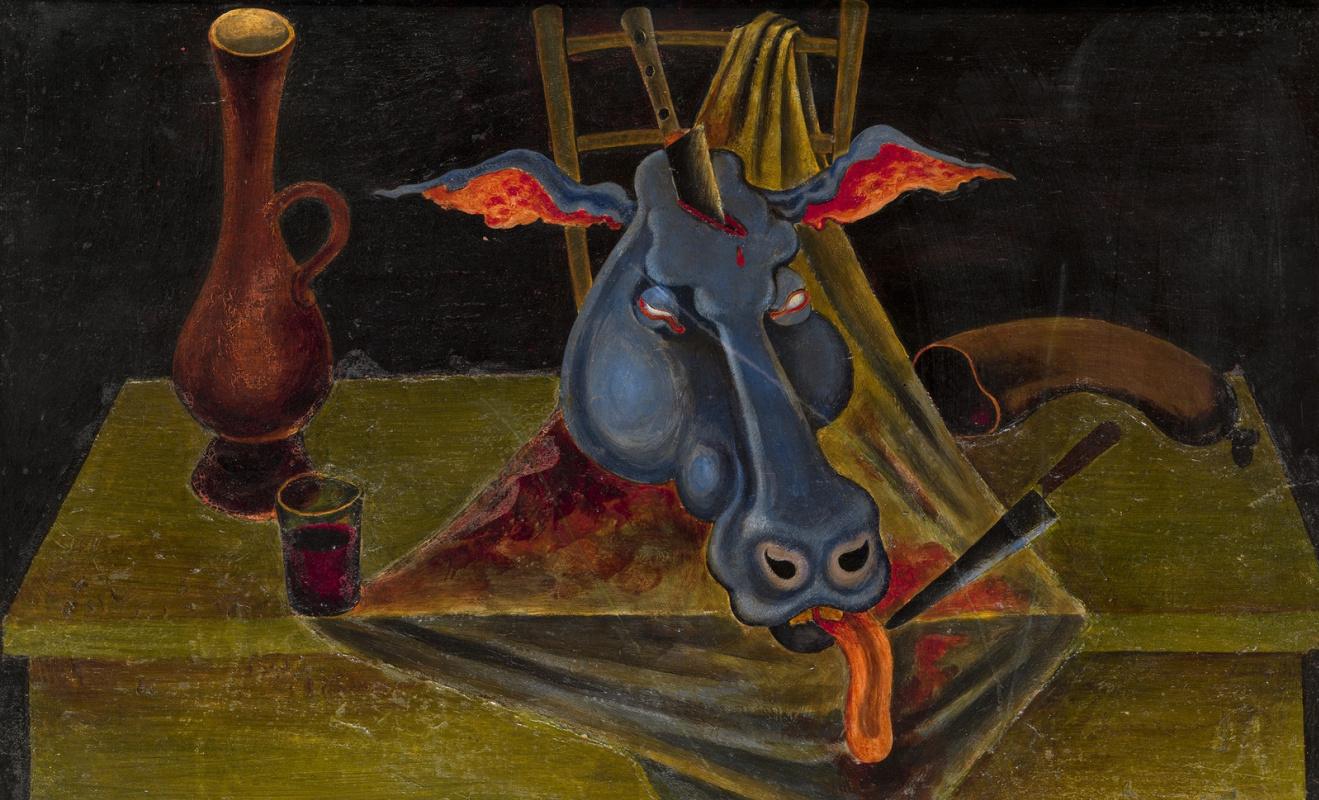 Михаил Шемякин. Натюрморт с головой быка. 1965