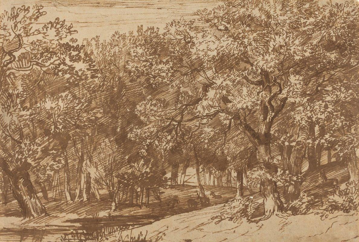 Jan Lievens. Deer in the Park
