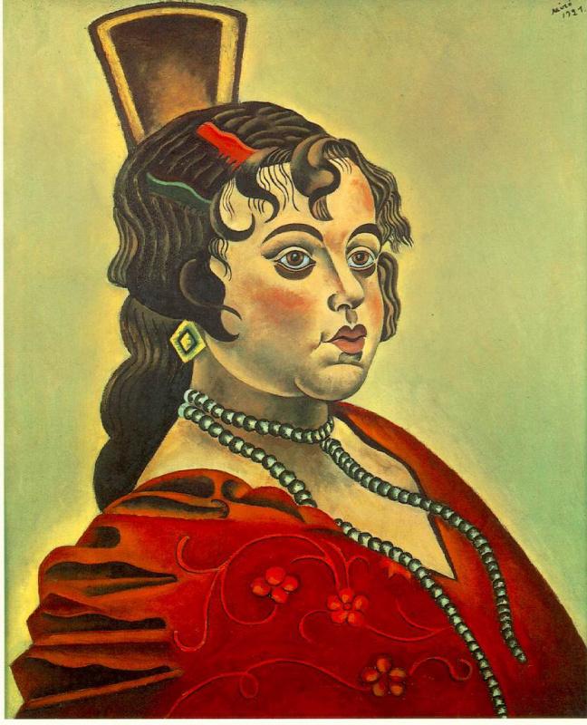 Хоан (Жоан) Миро. Портрет испанской танцовщицы