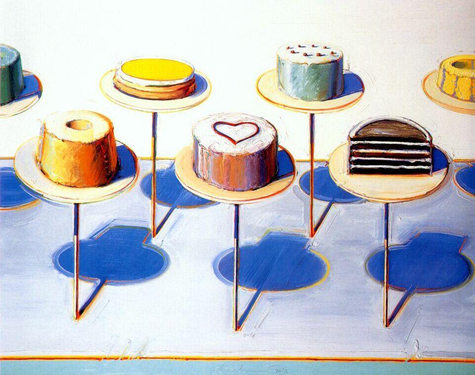 Wayne Thibaut. Cakes on stands
