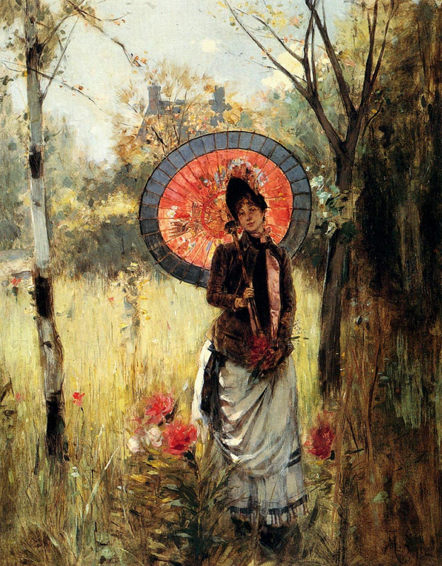 Альберт Линч. Леди с зонтом