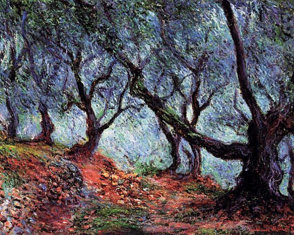 Claude Monet. Group of olive trees in Bordighera