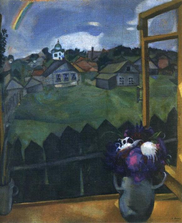 Marc Chagall. Window. Vitebsk