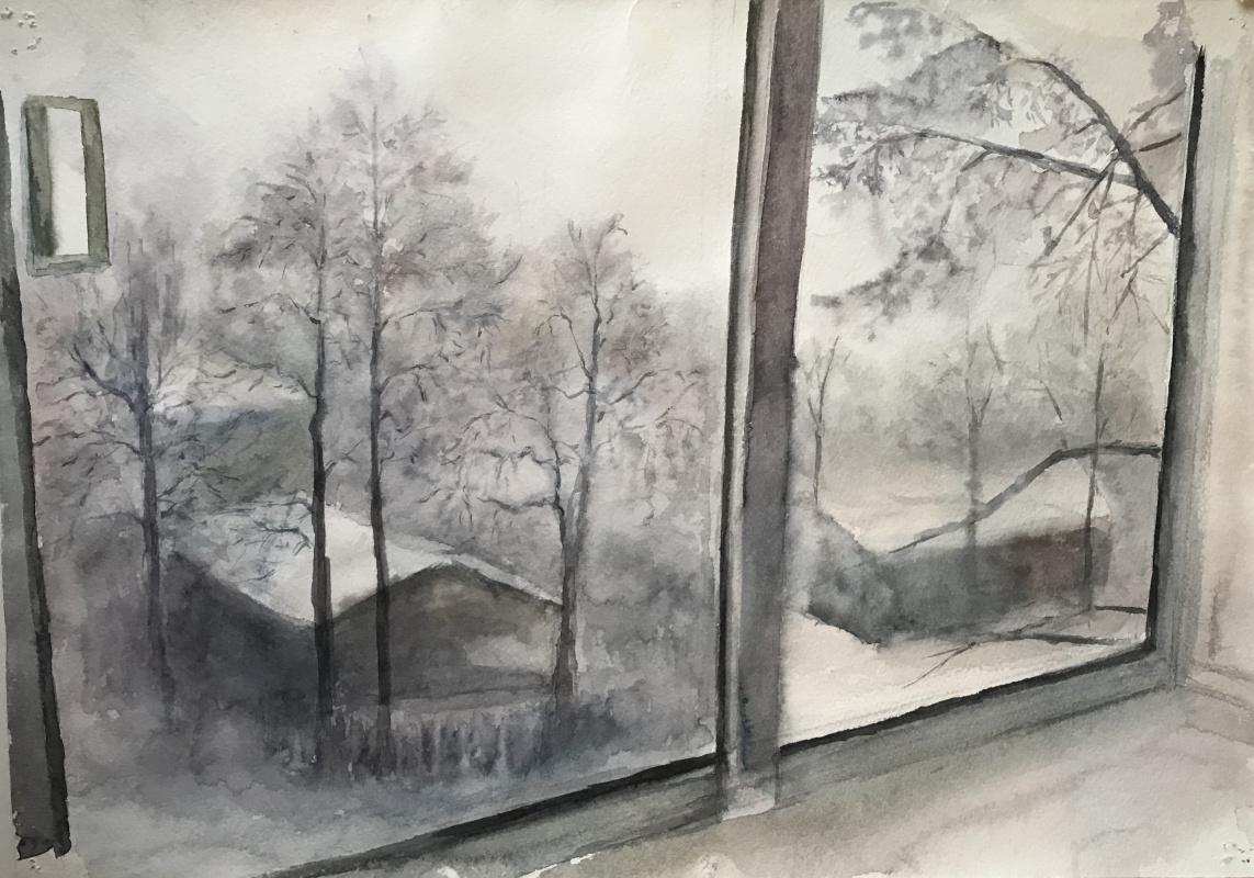 Anastasia Oraina. From the window