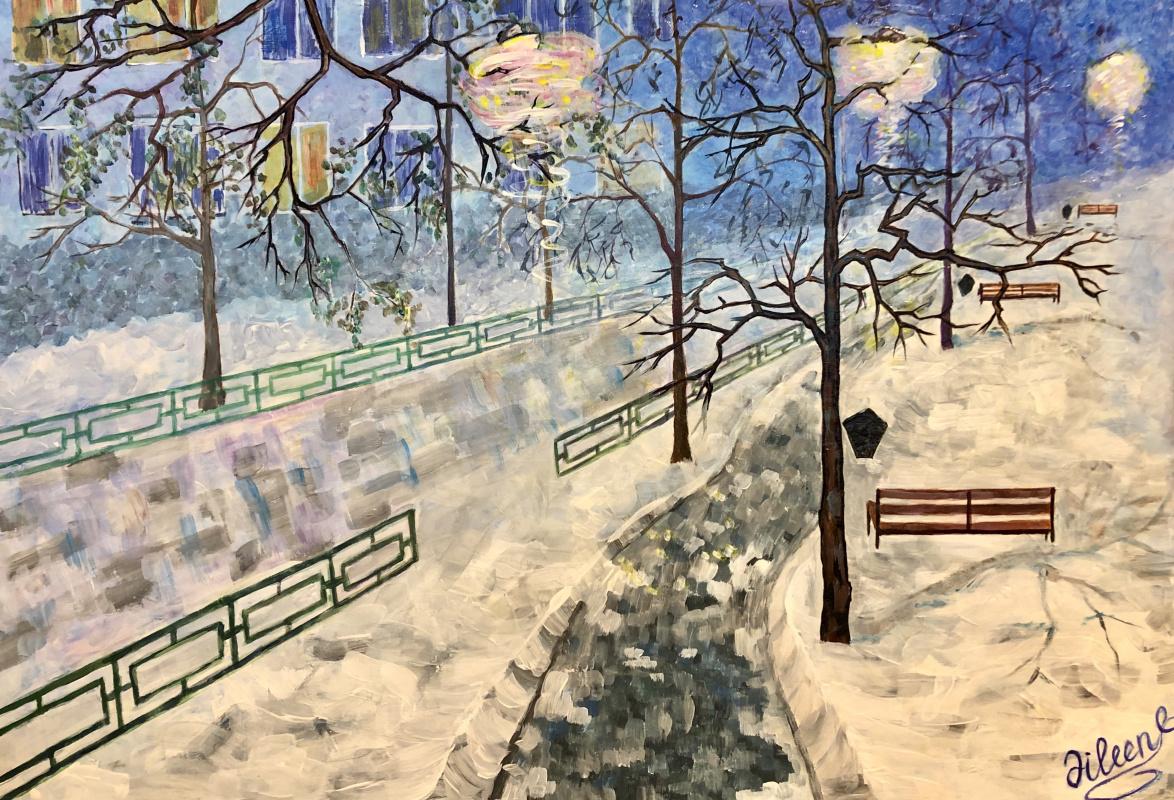 Elena Vasilyeva. Winter walk