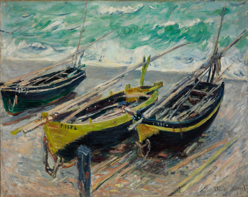 Claude Monet. Fishing boats
