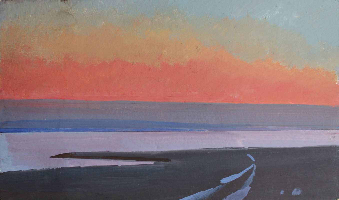Victor Ashotovich Abrahamyan. Sunset on the bay
