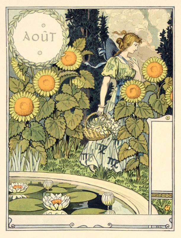 Eugene Grasse. August. Calendar