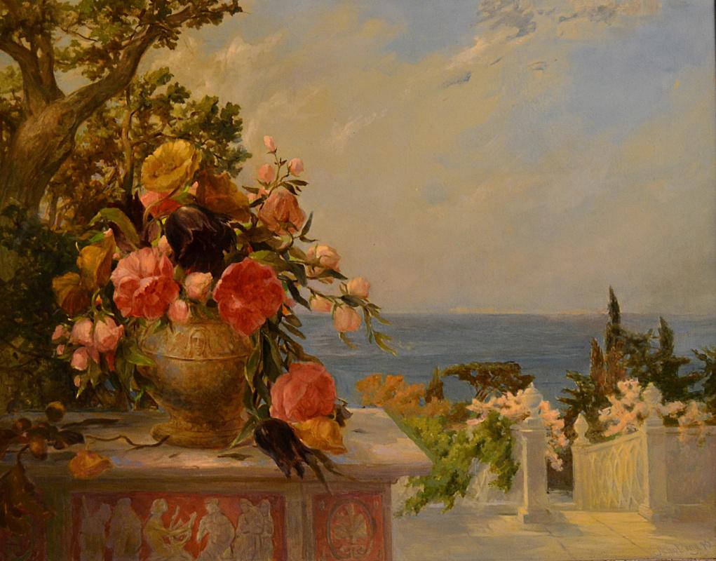 Julia Dmitrievna Astrovskaya. On the terrace