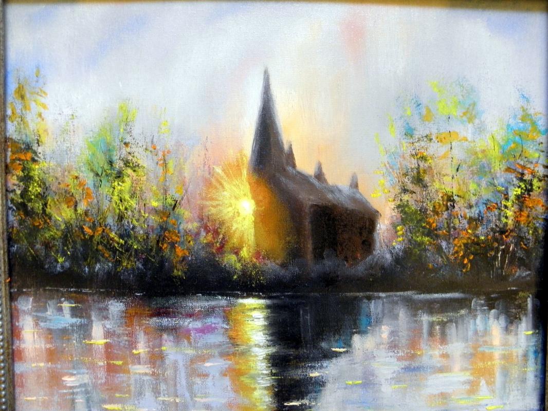 Andrey Zhukovsky. Oil painting