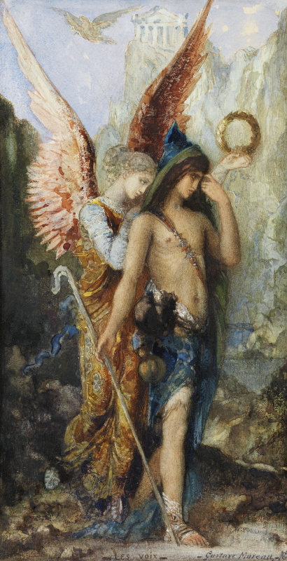 Gustave Moreau. Voices (Hesiod and Muse)