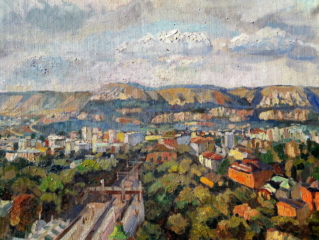 Sofia Rychanova. View of Kislovodsk from the 8th floor