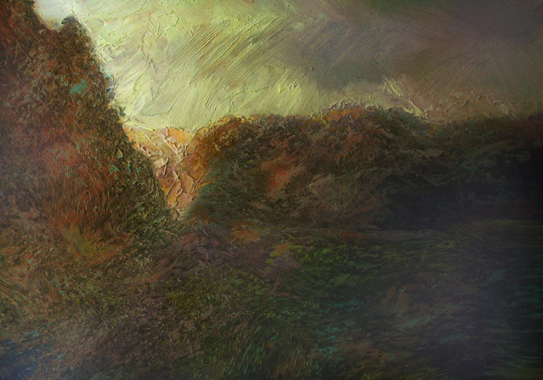 Alexander Ivanovich Vlasyuk. The flowing glitter of dawn