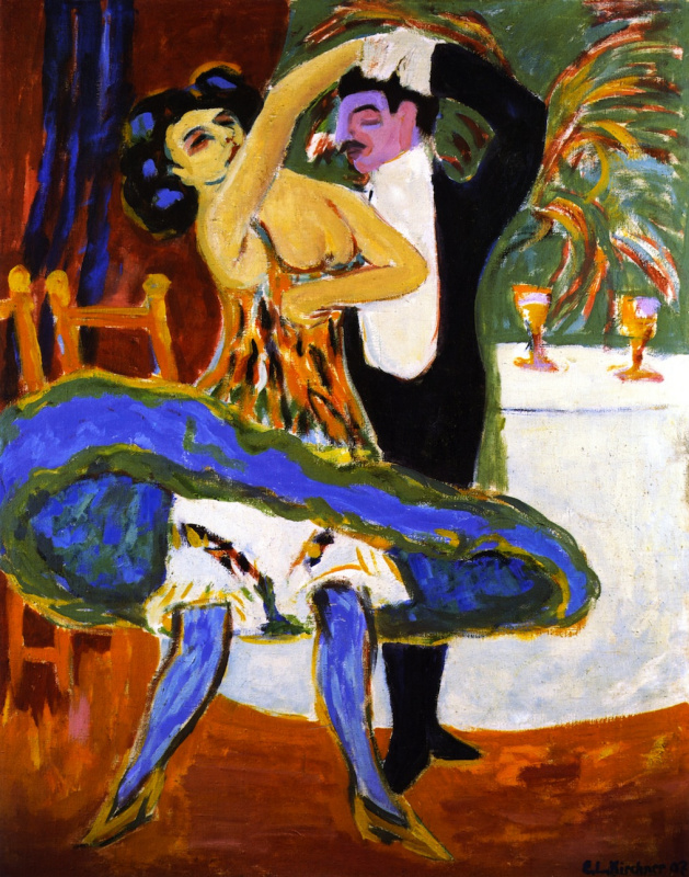Ernst Ludwig Kirchner. Couple dancing in a variety show
