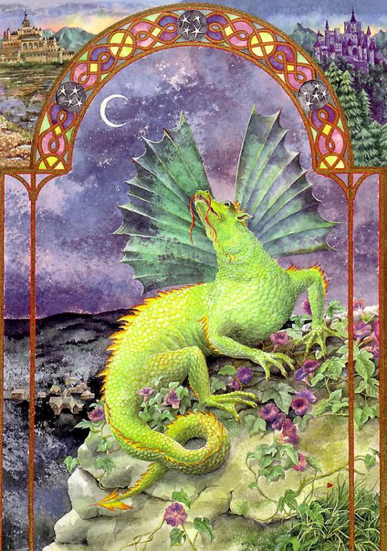 Зеленый лунный дракон
