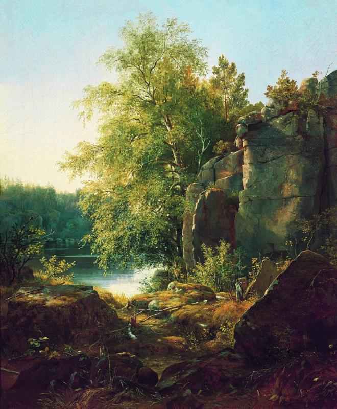 Ivan Ivanovich Shishkin. View on the island Valaam