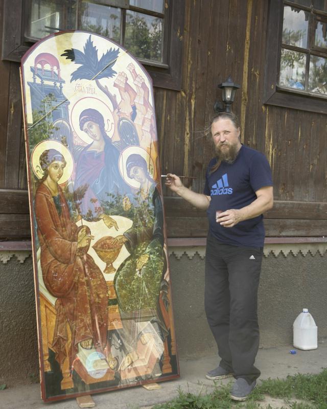 Igor Yurevich Drozhdin. Exterior icon of the Holy Trinity