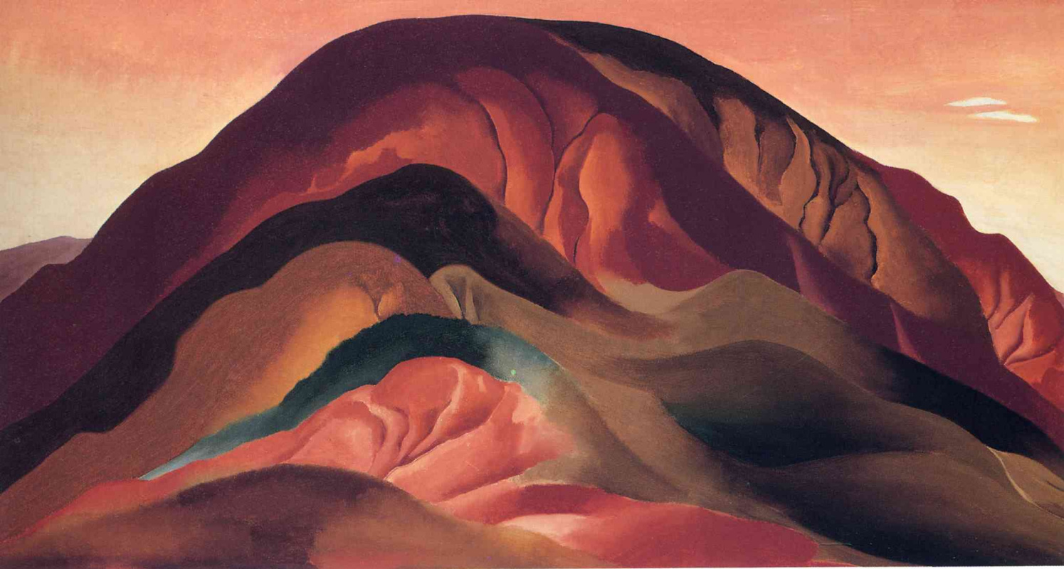 georgia okeeffes grey hill forms essay Georgia o'keeffe was one of the first modernist painters of the united states, and the first female one o'keeffe knew she wanted to be an artist from a very young age after finishing boarding school, where she received formal lessons in painting, o'keeffe attended the art institute of chicago to become an.