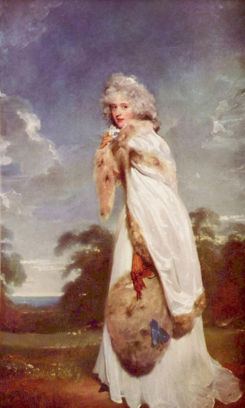 Thomas Lawrence. A portrait of Elizabeth Farren, later Countess of Derby