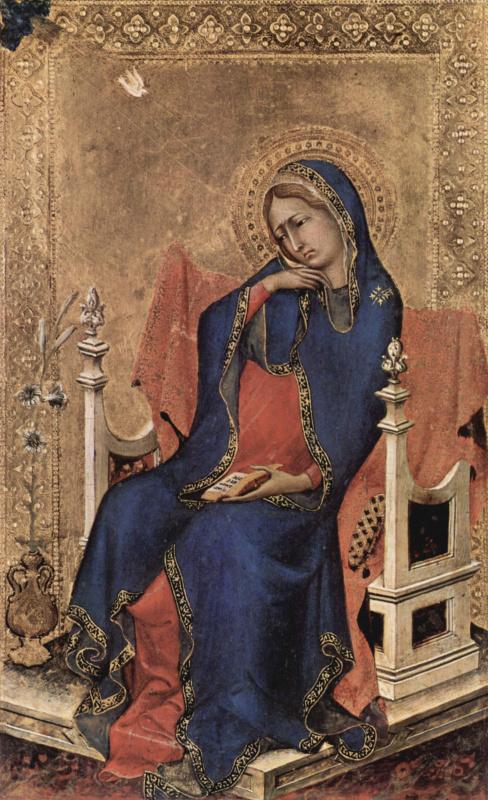 Симоне Мартини. Алтарь Орсини. Благовещение Марии