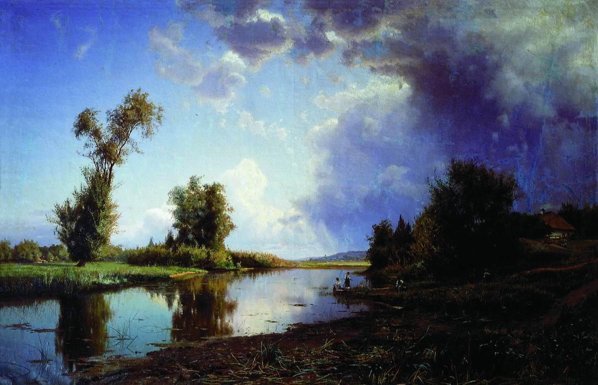 Joseph Evstafievich Krachkovsky. Before the storm. At the end of summer. Odessa Art Museum, Ukraine.