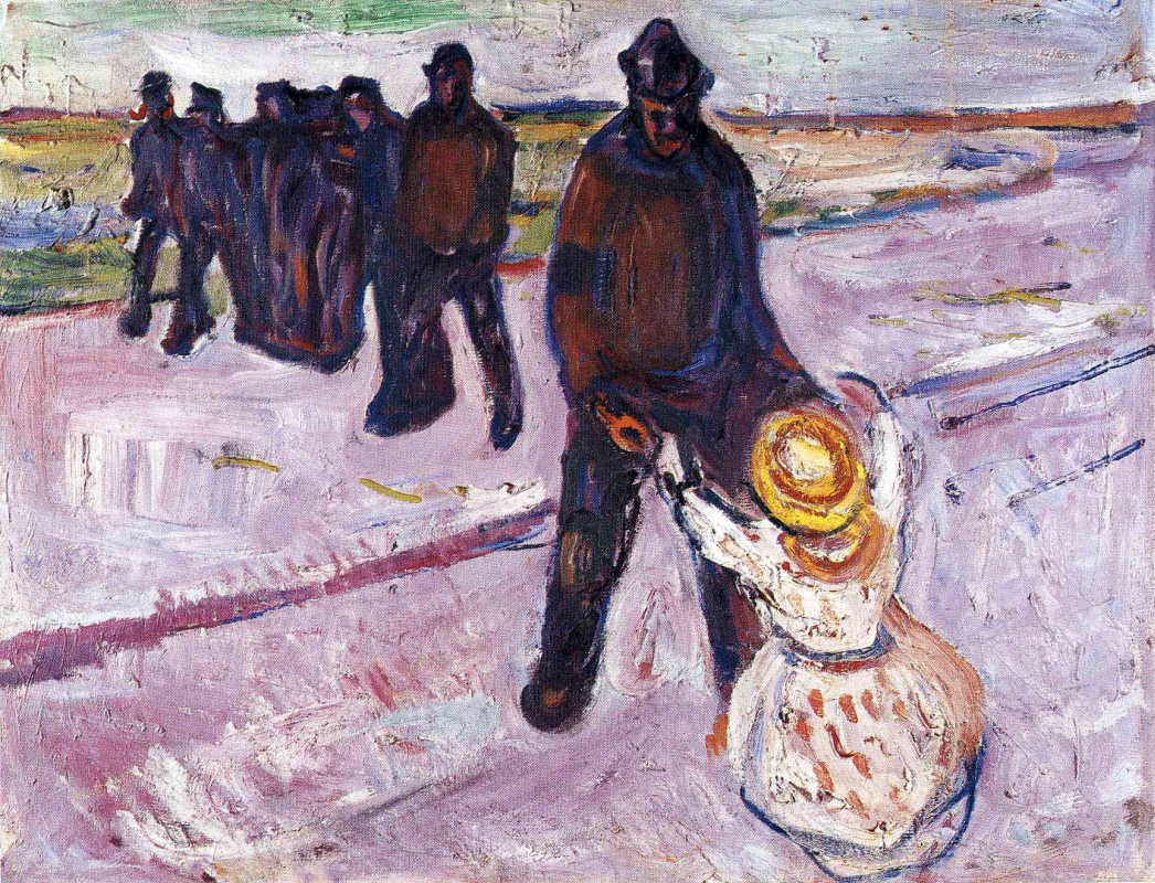 Edvard Munch. Working with the child