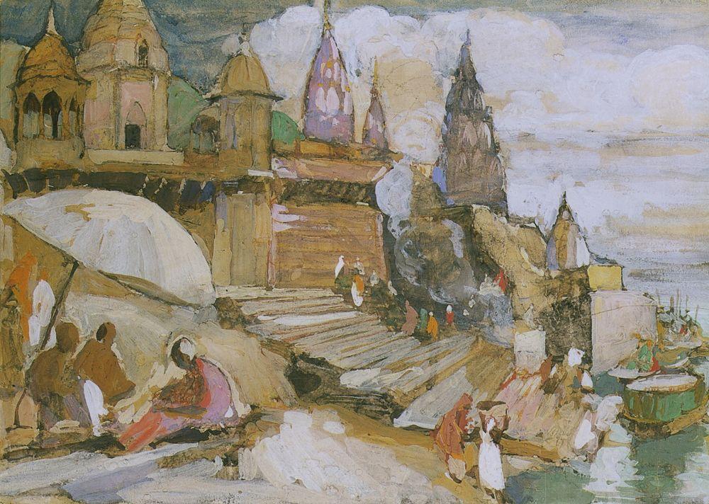 Алексей Ильич Кравченко. Бенарес. Этюд