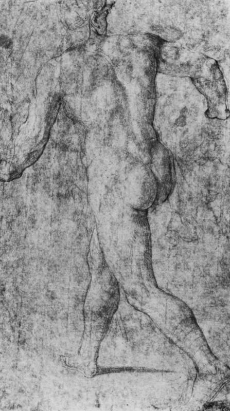 Обнаженный, фигура со спины