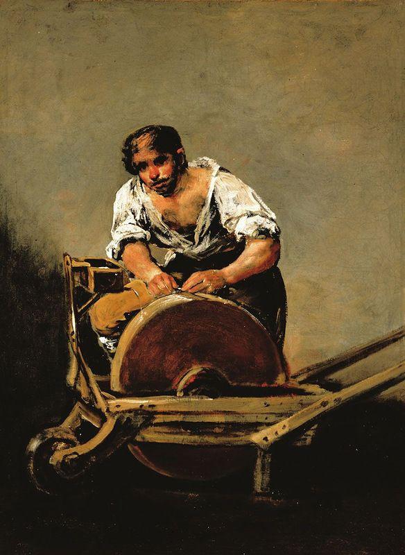Francisco Goya. Grinder
