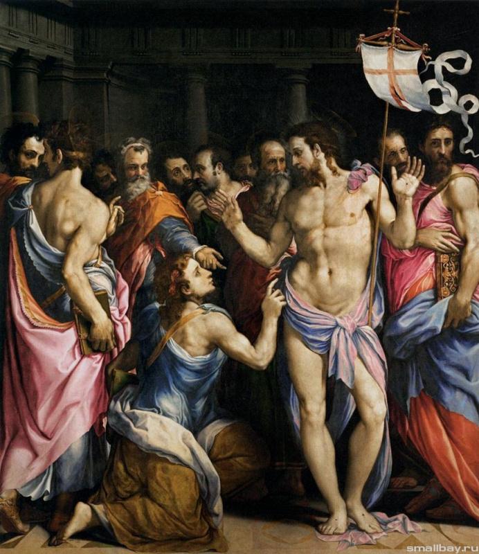 Джузеппе Порта Сальвиати. Неверие святого Фомы