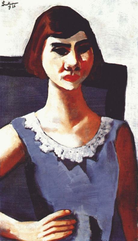 Макс Бекман. Портрет дамы в синем