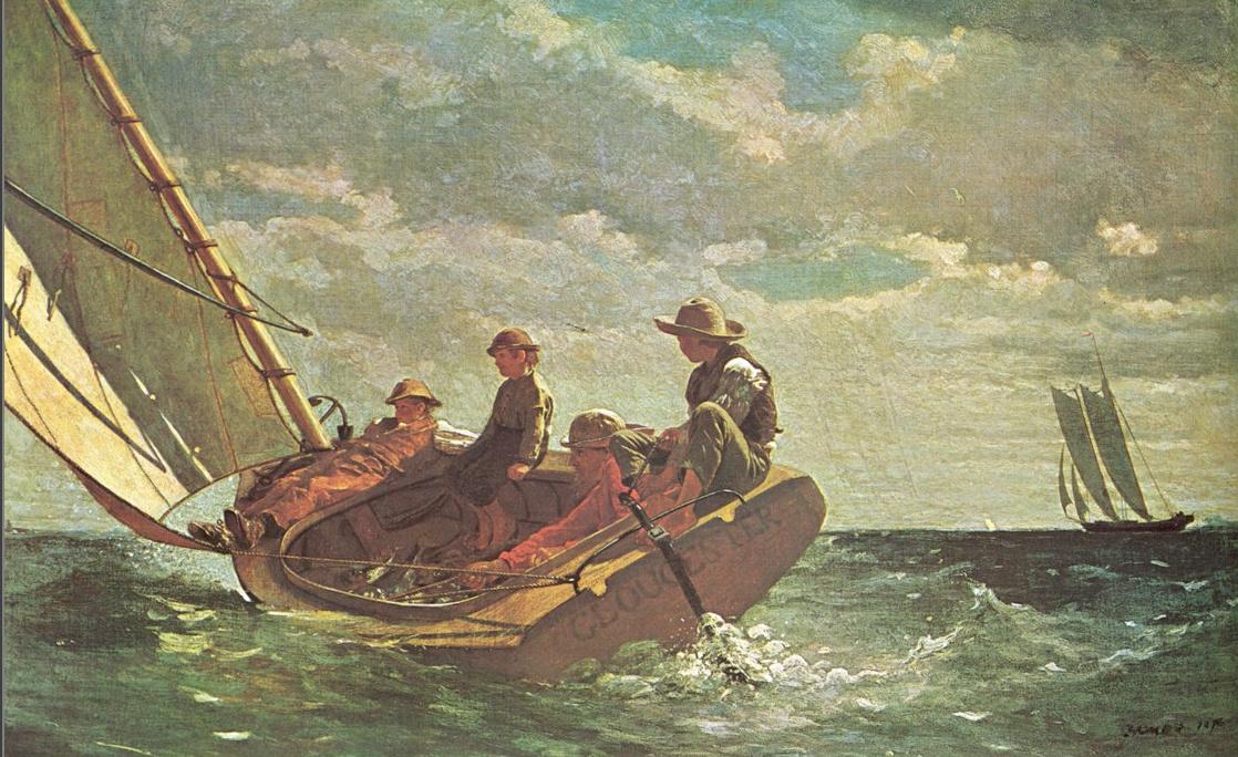 Winslow Homer. Breezes. Gloucester