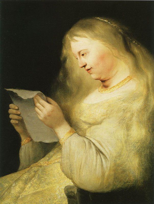 Ян Ливенс. Вирсавия читает письмо короля Давида