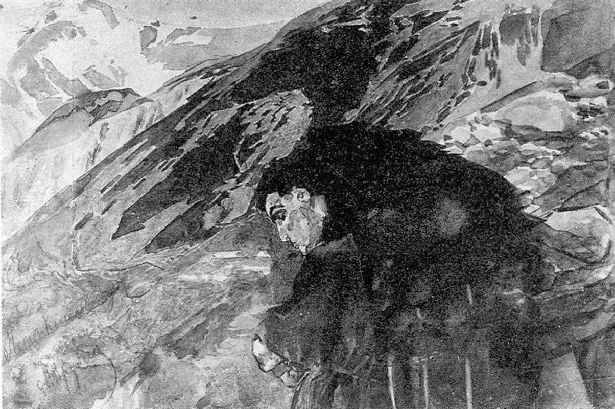 Mikhail Vrubel. The demon, looking into the valley of Aragvi