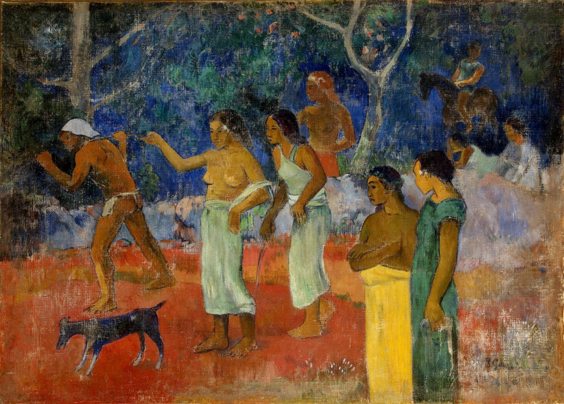 Paul Gauguin. Scene from the life of the Tahitians