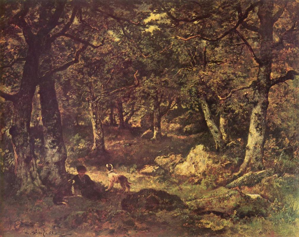 Нарсис Виржилио Диас де ла Пёнья. В лесу