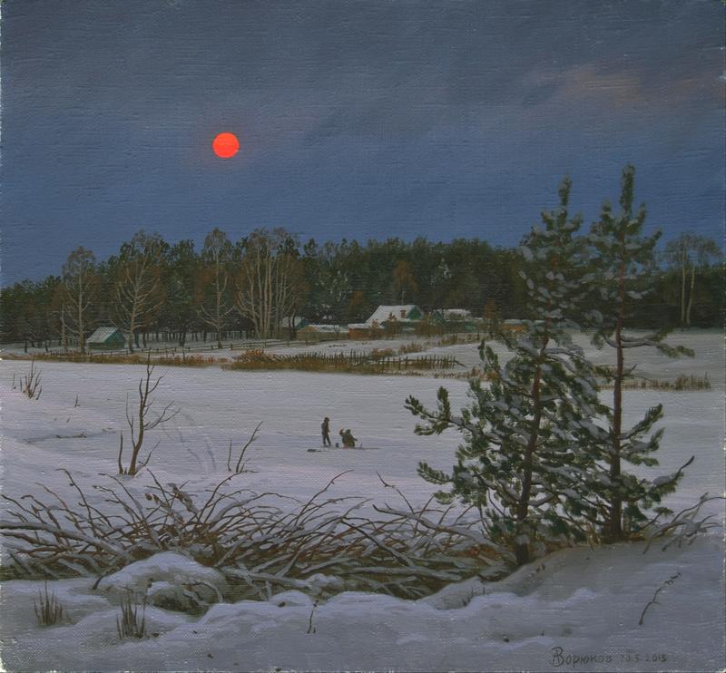 Alexander Vasilyevich Zoryukov. On the Sunset