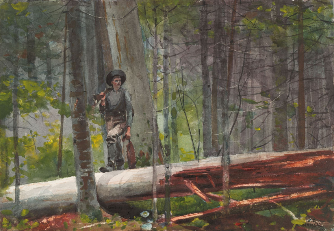 Winslow Homer. Hunter in the Adirondacks