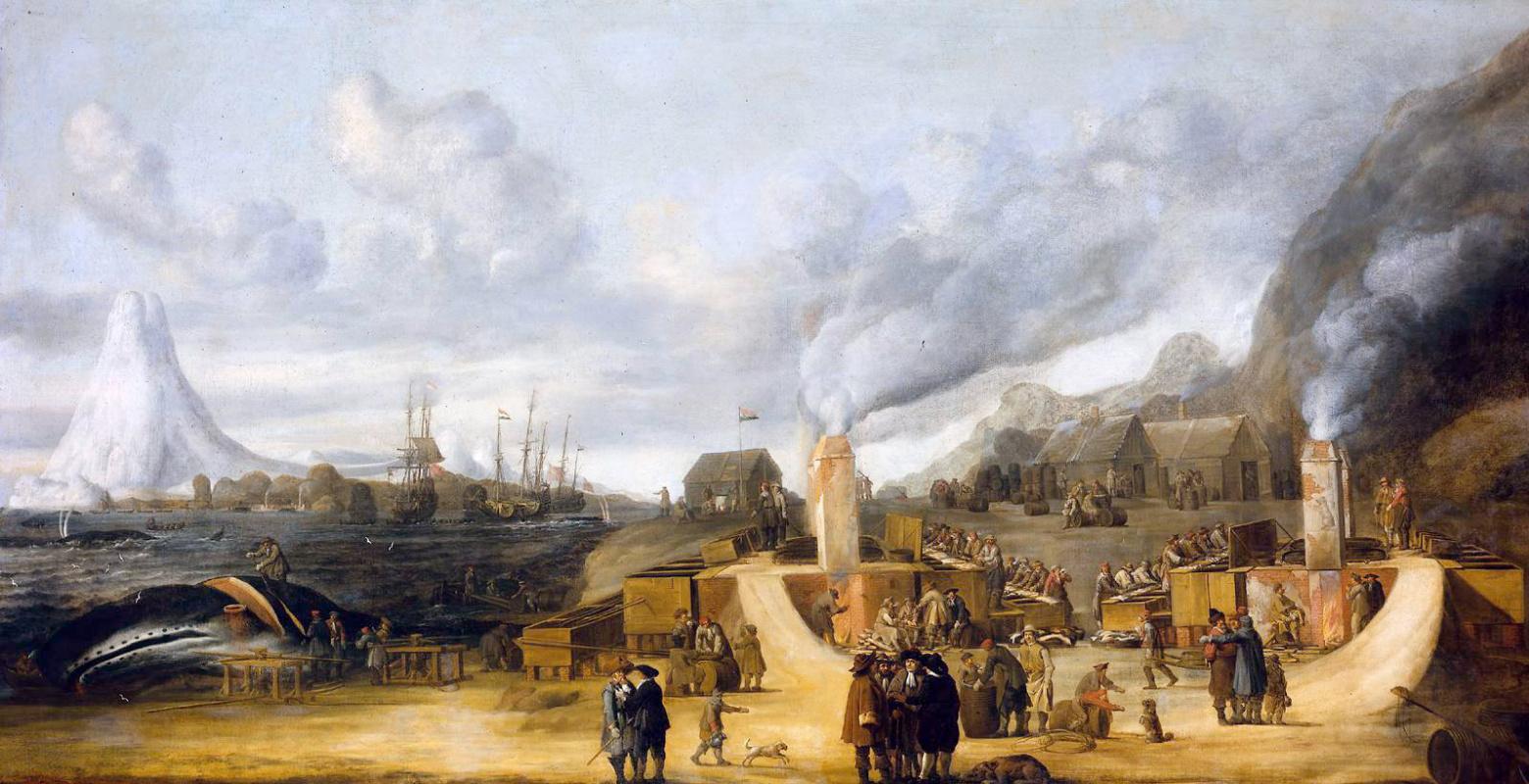 Cornelis de Men. Whaling