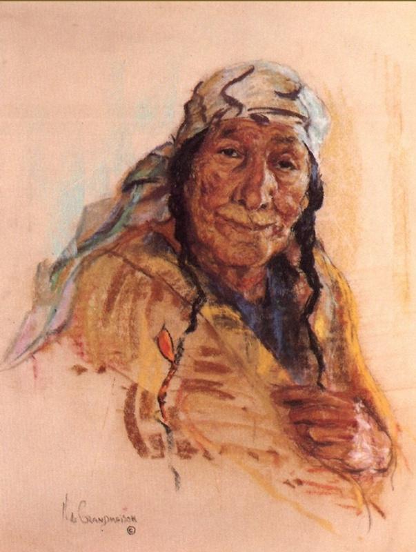 Индейский портрет 63