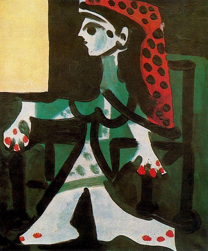 Пабло Пикассо. Портрет Жаклин в профиль 4