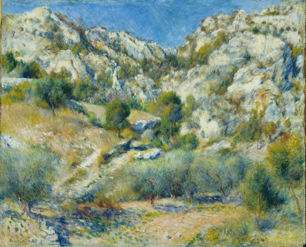 Pierre-Auguste Renoir. Rocky cliff in the l'estaque