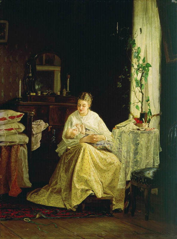 Василий Максимович Максимов. Материнство. 1871