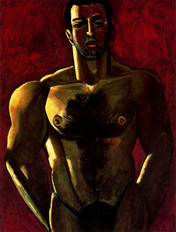 Марсден Хартли. Мужчина с обнаженным торсом