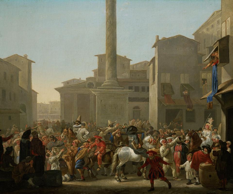 Иоганн Лингельбах. Карнавал в Риме