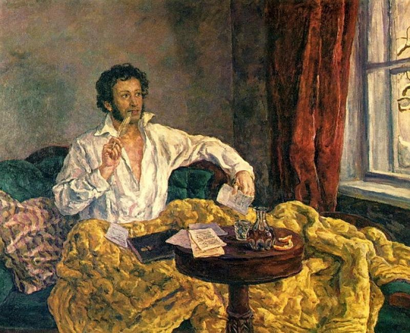 Petr Petrovich Konchalovsky. Pushkin in St. Michael